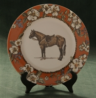 Bread & Butter/Salad Plate - Hunter Horse - Floral