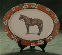 Oval Serving Platter - Hunter Horse - Floral