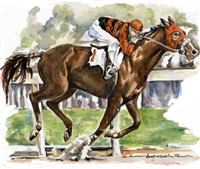 Race Horse Invitations - 100