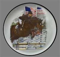 Coupe Plate - Black Band - Jumper/Flags