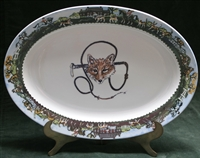 Oval Serving Platter - Fox & Whip