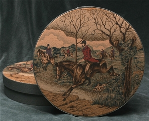 "Collector Box - 12"" Round Hunt Theme"