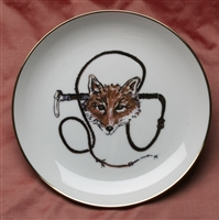 Gold Band Coupe Plate - Fox & Whip