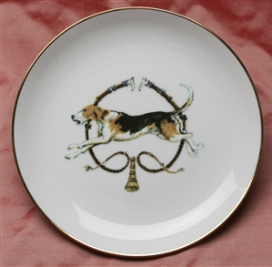 Gold Band Coupe Plate - Foxhound & Whips