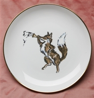 Gold Band Coupe Plate - Fox & Horn