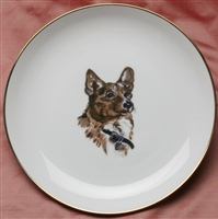 Gold Band Coupe Plate - Corgi