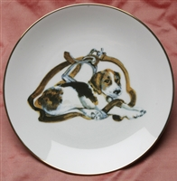 Gold Band Coupe Plate - Pup & Stirrup