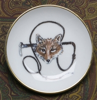 Gold Band Coaster - Fox & Whip - Set of 4