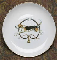 Gold Band Coaster - Foxhound & Whips - Set of 4