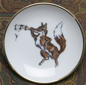 Gold Band Coaster - Fox & Horn - Set of 4