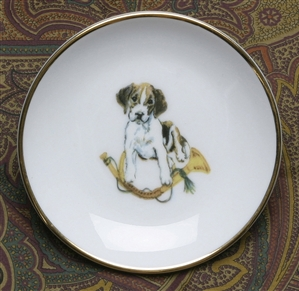 Gold Band Coaster - Pup & Horn - Set of 4
