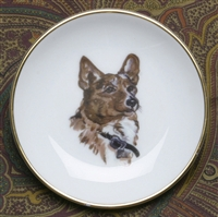 Gold Band Coaster - Corgi - Set of 4