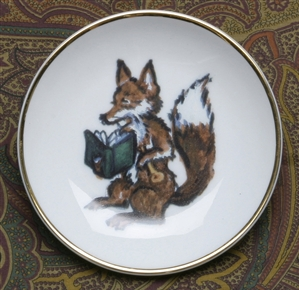 Gold Band Coaster - Fox & Book - Set of 4
