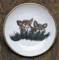 Gold Band Coaster - Fox Kits -Set of 4