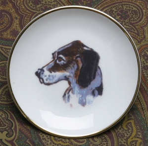 Gold Band Coaster - Hound Head/Side View - Set of 4