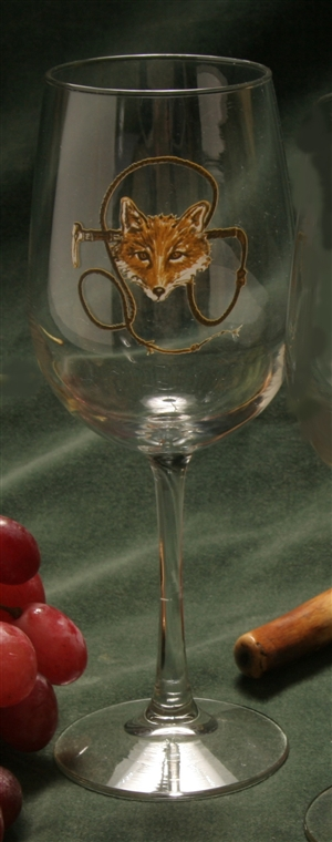 Wine Glasses - Fox & Whip - Set of 4