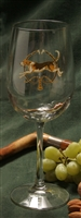 Wine Glasses - Foxhound & Whips - Set of 4