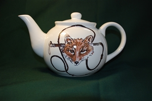 "Tea Pot - ""Fox & Whip"""