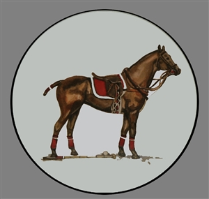 Coupe Plate - Black Band - Red Saddle Pad