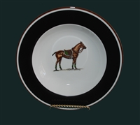 Soup/Cereal Bowl - Polo Horse - Green Pad