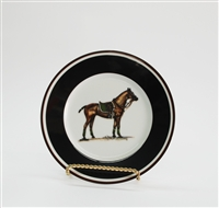 Bread & Butter Plate - Polo Horse - Green