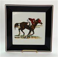 Square Plate - Race Horse - 10-1/2""