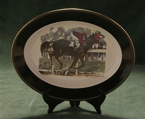 Oval Serving Platter - Race Horse