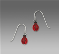Sienna Sky Earrings-Lady Bug Red Drop