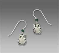 Sienna Sky Earrings-Silver Tone Etched Owl