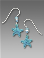 Sienna Sky Earrings-Blue Starfish