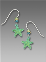 Sienna Sky Earrings-Green Starfish