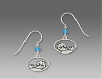 Sienna Sky Earrings-Silvery Sea Otter