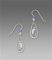 Sienna Sky Earrings-Silver-tone Heron Laser Cut Dangle
