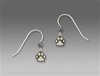Sienna Sky Earrings-Small Polished Paw Print