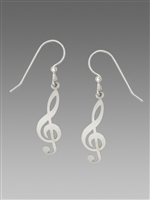 Sienna Sky Earrings-Treble Clef