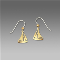 Sienna Sky Earrings-Gold Tone Sailboat