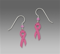 Sienna Sky Earrings-Breast Cancer Awareness Pink Ribbon