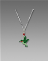 Sienna Sky Necklace- Ruby Throated Hummingbird