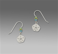 Sienna Sky Earrings-Silver Tone Sand Dollar
