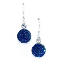 Sterling Silver Dangle Earrings- Druzy Quartz