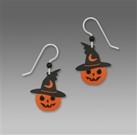 Sienna Sky Earrings-Jack O' Lantern with a Witch's Hat