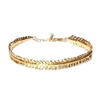 "22k Gold Plated Bracelet- ""Scale Feather"""