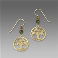 Sienna Sky Earrings-Goldplated Tree of Life Filigree Disc