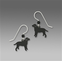 Sienna Sky Earrings- Black Labrador Retriever