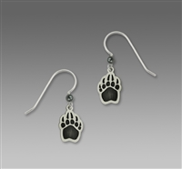 Sienna Sky Earrings-Black Bear Claw Print