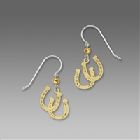 Sienna Sky Earrings-Gold-Tone Lucky Horseshoes