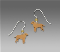 Sienna Sky Earrings-Yellow Labrador Retriever
