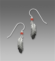 Sienna Sky Earrings - Feather