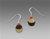 Sienna Sky Earrings - Cupcakes (Mismatched) with Icing & Cherry
