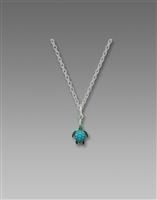 Sienna Sky Necklace- Green Blue Sea Turtle